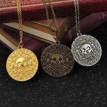 Пираты Карибы ацтекская монета ожерелье кулон аксессуары для косплея