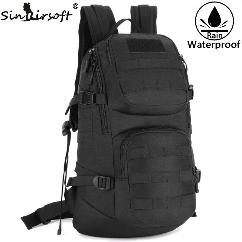 ФОТО Sinairsoft women's backpack School Bag Men's b Shoulder Bag For Men 35L Backpack Camouflage Military Rucksack Travel Nylon Bag