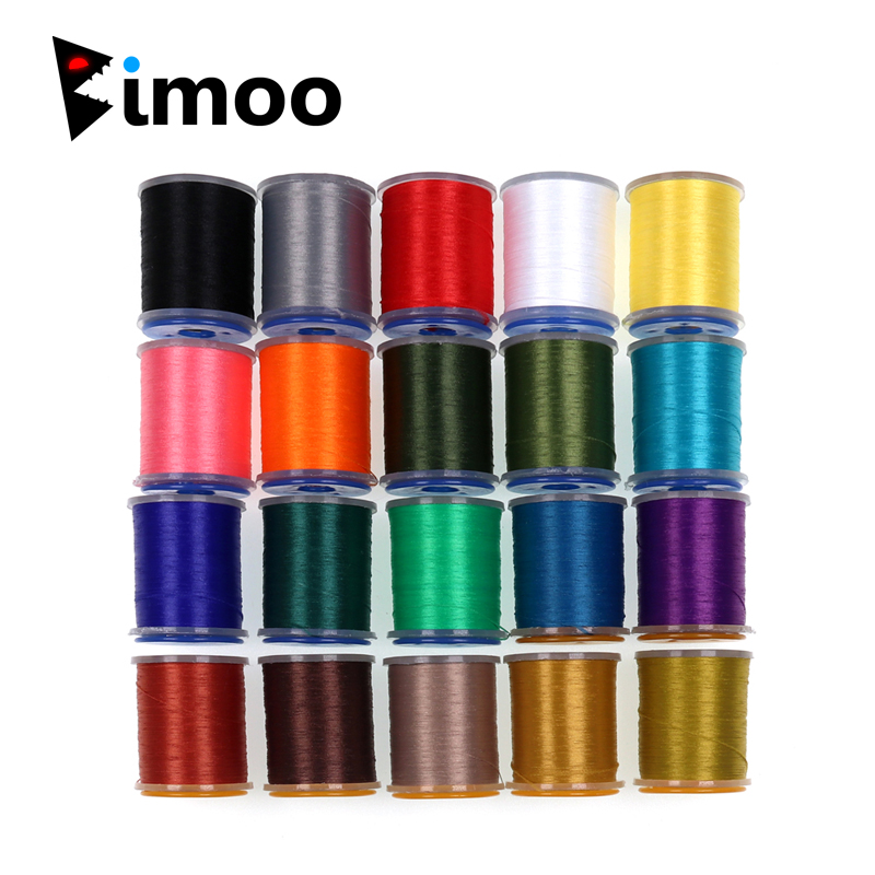 Bimoo 1PC 20 Colors Pro Fly Tying Thread Floss For Flies Trout Bass Fly Tying Material 140Denir Hybrid Filaments Tying Threads