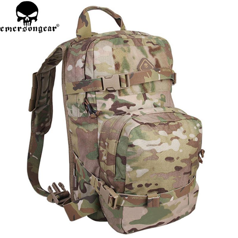 Emersongear LBT2649B Hydration Carrier for 1961AR Molle Backpack Military Tactical Bags Hunting Bag Multicam Tropic Arid Black