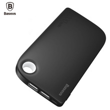 Baseus Dual USB Power Bank 8000mAh Portable Phone Battery Charger Mobile External Battery Powerbank For Xiaomi With 2 in 1 Cable