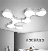 Modern Led Ceiling Lights For Indoor Lighting plafon led Cells shape Ceiling Lamp Fixture For Living Room Bedroom luminaria teto