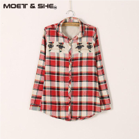 XXL High Quality Spring Autumn Women S Cotton Shirts Long Sleeved Blouses Slim Basic Tops Hollow