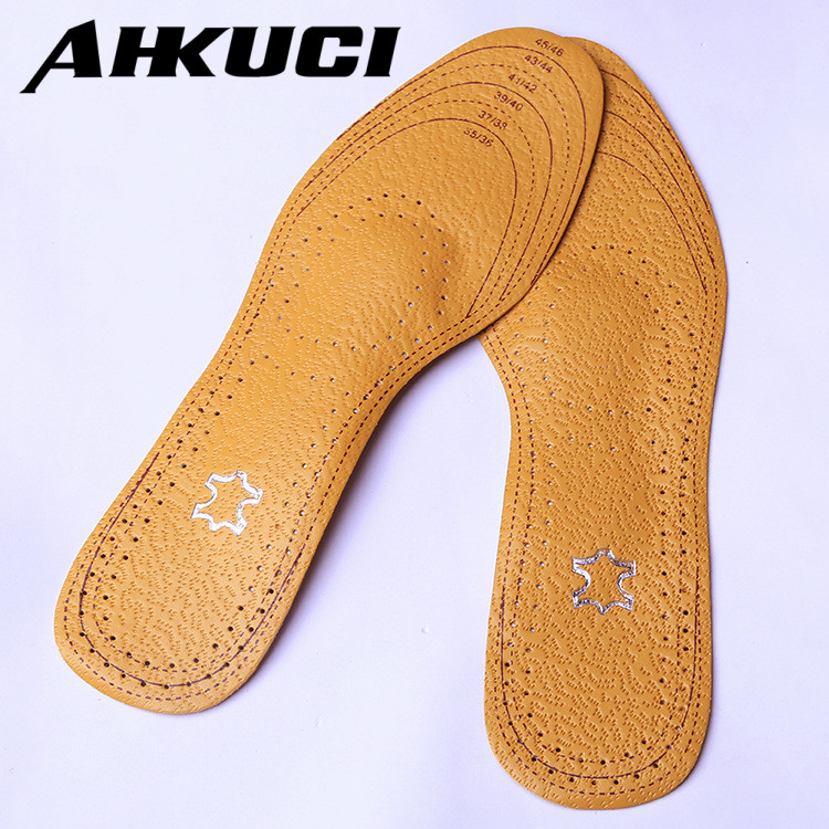 Leather Arch Support Full Cushion Activated Carbon Sweat Shock Absorbent Insoles Orthotic Care Shoes Pad expfoot orthotic arch support shoe pad orthopedic insoles pu insoles for shoes breathable foot pads massage sport insole 045