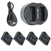 4x 1260mAh NP W126 NP W126 NPW126 Batteries Dual USB Charger For Fujifilm Fuji X Pro1