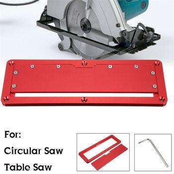 Nowa elektryczna piła tarczowa odwróć pokrywka stół z klapką specjalna pokrywka regulowana aluminiowa płytka do piły stołowej tanie i dobre opinie FNICEL Embedded Cover Plate Aluminum Alloy Anodizing 300*97*10mm