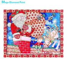 christmas santa claus Moge Diamond Painting Partial Round New DIY Toy sticking drill cross embroidery 5D simple home decorative