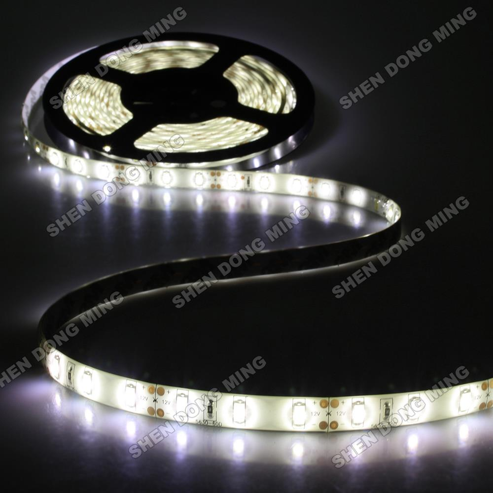 white/cold white/warm white Waterproof led strip 5630 SMD Water proof IP65 led ribbon DC12V 60Leds/m 14.4w/m flexible led light sisjuly white m