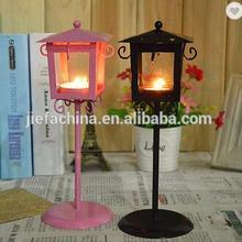 Декоративная Свеча для дома дизайн лампы металлический Железный дом форма короткий держатель свечей