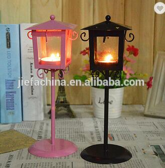 Home Decoration Candle Lamp Design Metal Iron House Shape Tealight Candle Holder