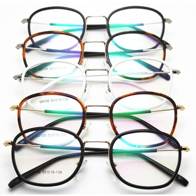 Exceder luz tungstênio titanium aço plástico armação de óculos senhora alta arquivos vai picture frame homem maré óculos oculista