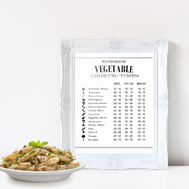 Healthy Recipes Vegetable Chart Wall Art Canvas Poster Prints Kitchen Decor Vegetarian Healthy Cooking Gift Art Painting Picture image