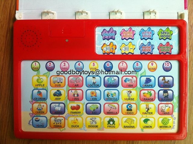 Intelligence ology kids Chinese/English learning machine for children with free shiping BY168-3