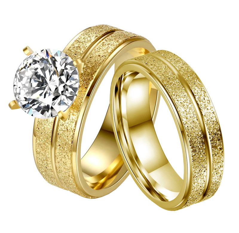 Stainless Steel Couple Ring...