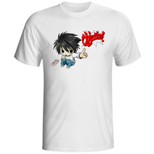 Death Note Crossover Ace Attorney T Shirt Anime Creative Design T-shirt Skate Brand Casual Unisex Tee printio slow death t shirt