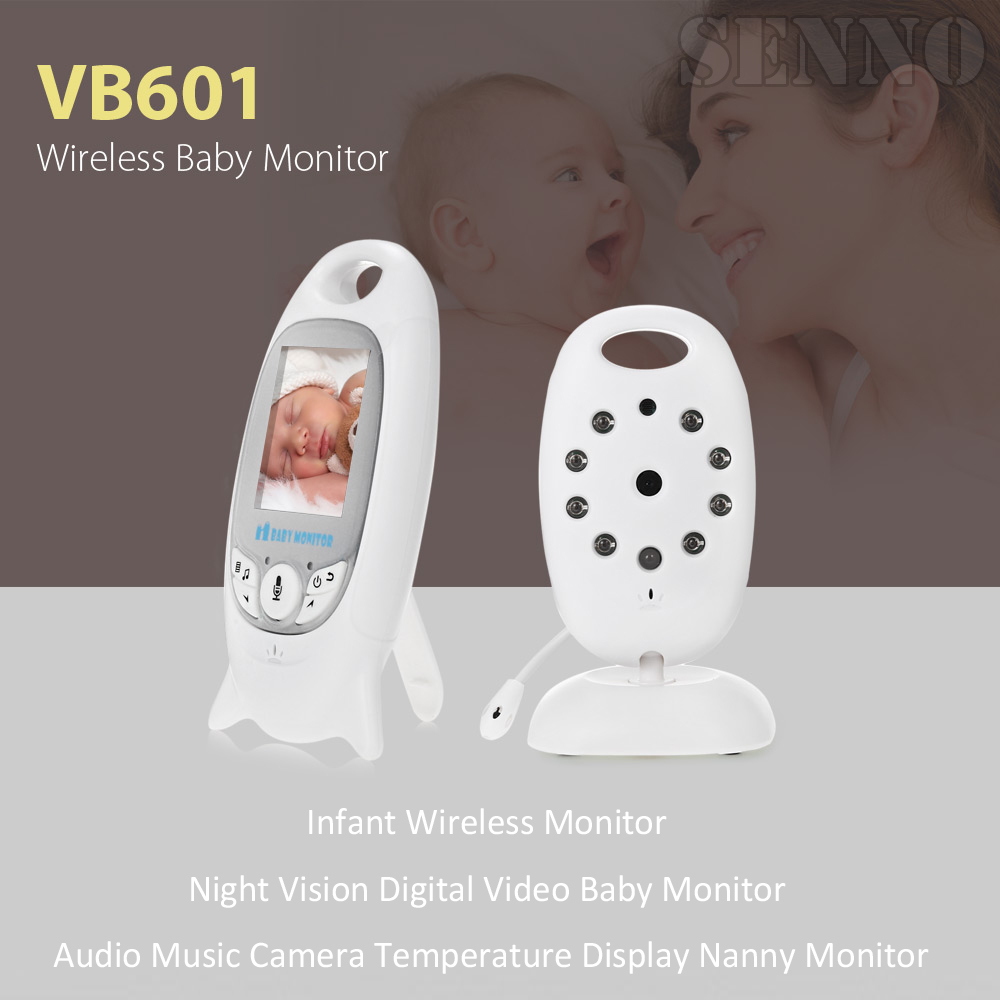 Hot Infant Wireless Monitor Night Vision Digital Video Baby Monitor Audio Music Camera Temperature Temperatering Nanny Monitor