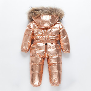 Image 3 -  30 Russian Winter Snowsuit Toddler Boys Girls 90% Duck Down Rompers Overalls Kids Jumpsuit For Infant Baby 1 6 Y Clj311