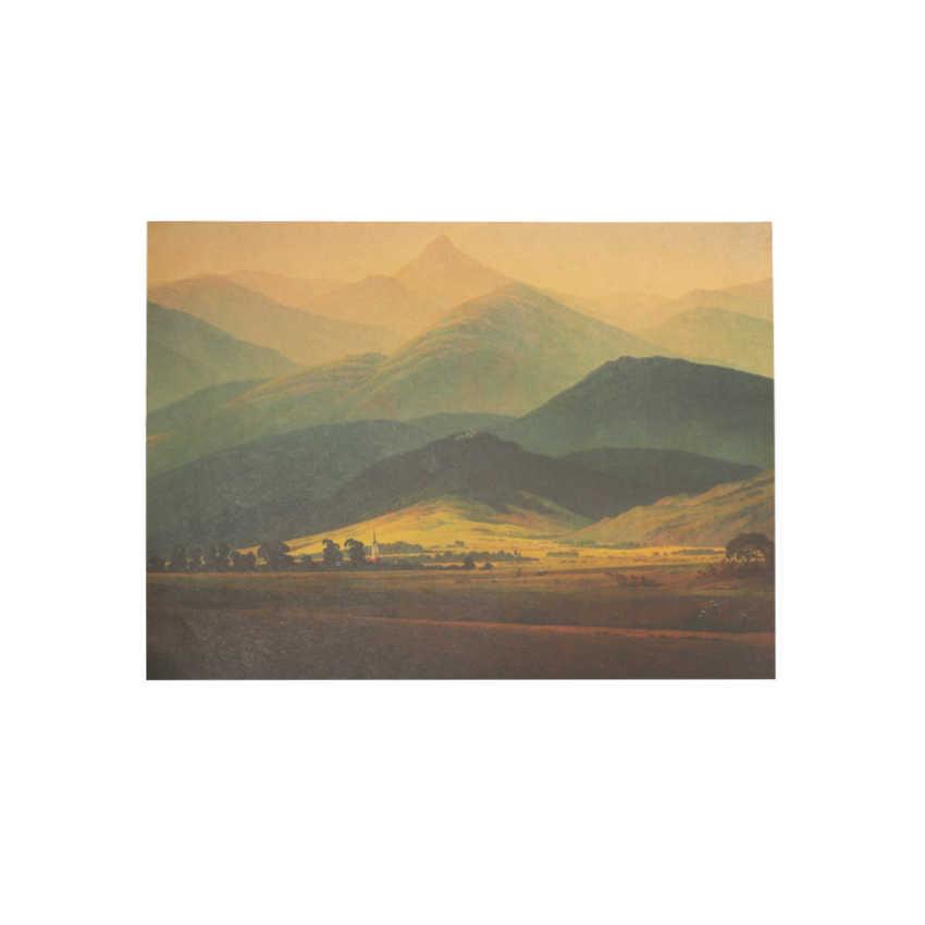 TIE LER Gigante Montagne di Fama Mondiale Dipinti David Dipinti Ad Olio di Grandi Dimensioni di Stampa di Carta Kraft Interno Decorazione Della Parete Adesivi