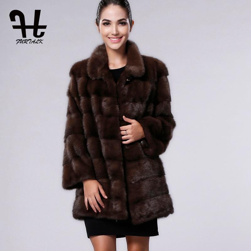 Pour Sable Femmes Naturel Haute natural Gray Color Fourrure Les Furtalk Vison Veste Manteau black D'hiver champagne Réel De Qualité Longue rBeCodx