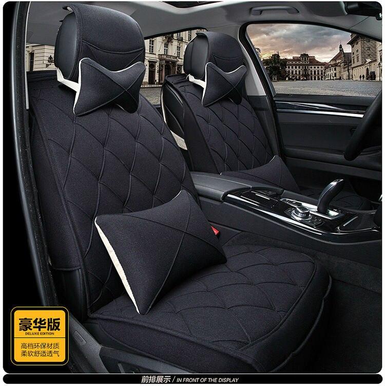 Almofadas conjunto tampa de assento de couro do carro para AUDI A4L A6L Q3 Q5 Q7 BMW 316i 320i 328li A7 A3 Mini One benz GLK260 GLK300 C200L C180L