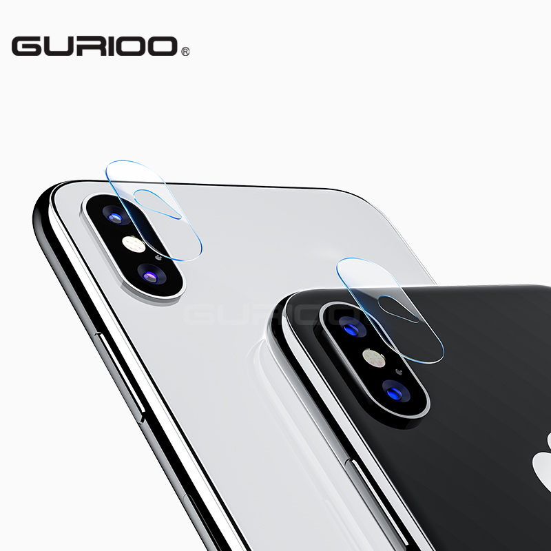 GURIOO 2pcs Camera Lens Screen Protector Glass for iPhone x Tempered Film Back cover Clear 9H Hardness for iPhoneX 10 2.5D HD