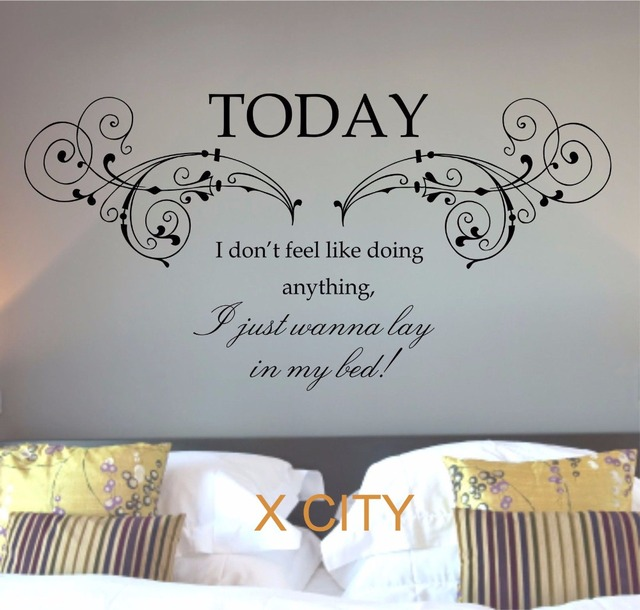 bruno mars lazy today lyrics song quote words wall art. Black Bedroom Furniture Sets. Home Design Ideas