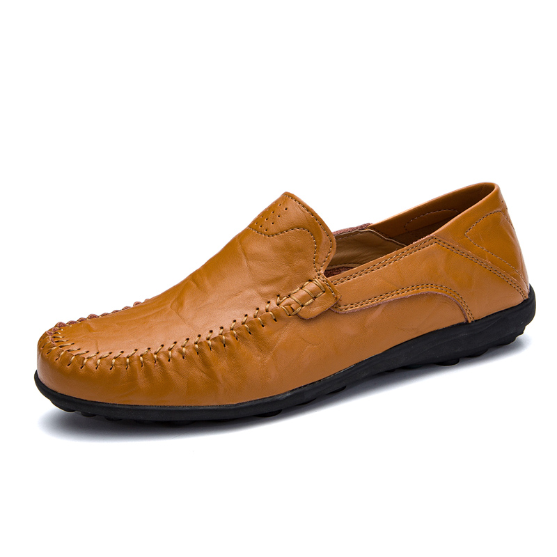 Cuir 8008black Slip Appartements Mocassins Sur Bateau Grande Véritable Respirant 8008redbrown Sneakers Taille Causal Chaussures En Printemps Adulte 8008lightbrown Hommes xYqwxCERUX
