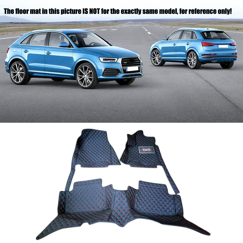 Interior Leather Floor Mats & Carpets 1set Right left hand drive For Audi Q3 8U 2013 2014 2015 2016 for opel zafira left drive firm pu leather wear resisting car floor mats black brown grey custom made waterproof carpets