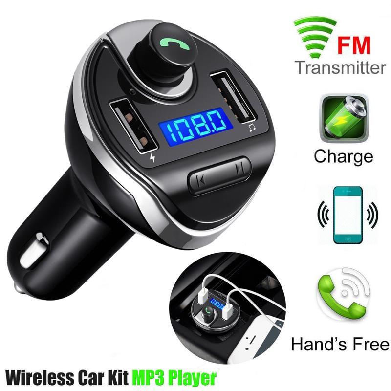 Wireless Bluetooth FM Transmitter Car MP3 Player Radio Transmitter With Dual USB Ports Handsfree Bluetooth Car Kit