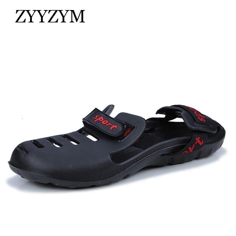 ZYYZYM Men Sandals 2018 New Spring Summer Non-slip Fashion Trend Personality Light Mens Sandal