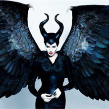Sleeping Spell Mask Maleficent hat helmet hood Bar horn mask COS sleeping beauty witch Halloween Props