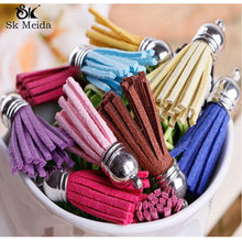 35mm Suede Tassel For Keychain Cellphone Straps Jewelry Charms 100pcs Faux Leather Tassels Diy Accessoire Boucle D Oreille ST-1