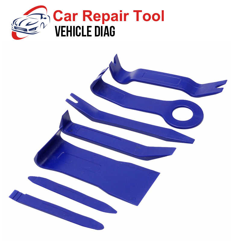 7pcs Auto Reparatie Tool Kit Hard Plastic Auto Radio Panel Interieur Deur Clip Panel Trim Dashboard Removal Opening tool Set 2018