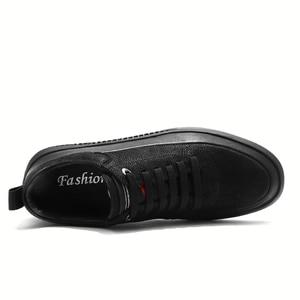 Image 3 - Кроссовки мужские из натуральной кожи, Уличная Повседневная обувь, Нескользящие, дышащие, для прогулок, Осень зима