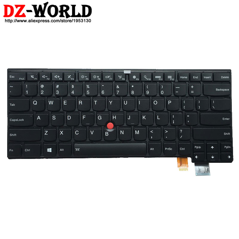 все цены на New Original Backlit Keyboard for Lenovo Thinkpad T460S T470S Backlight US English Teclado 00PA452 00PA534 SN20H42364 онлайн