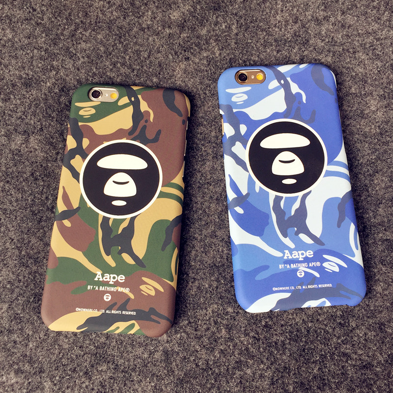 size 40 bb42f 1befc US $6.98 |Fashion Hot Style Aape Case For iPhone 7 6 6s Plus Bape Shark  Army Phone Case Cover For iPhone 6 6s Hard PC Matte Coque Fundas on ...