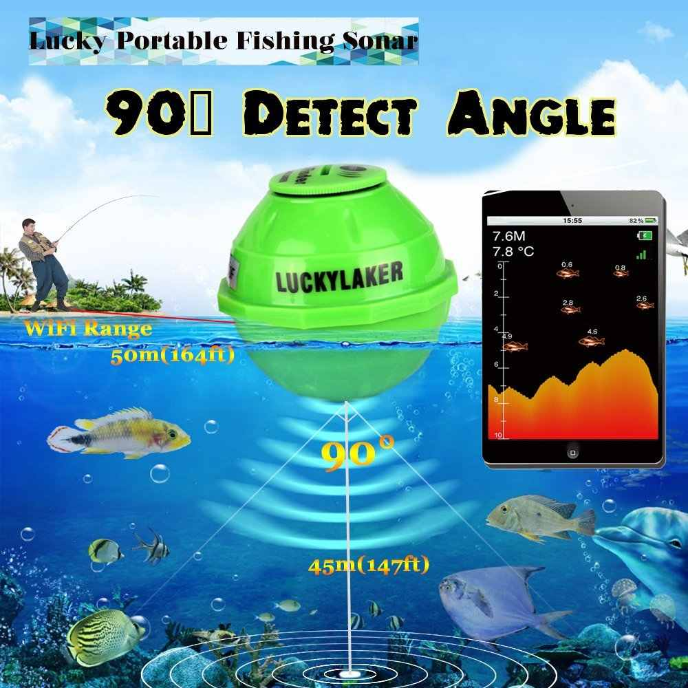 WiFi Wireless Finder For Underwater Fish Hunting Deeper Sonar Fishfinder With APP Echo Sounder Fishing Alarm for Fish Sensor