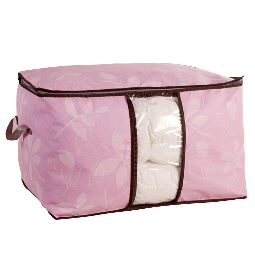 SOLEDI гардеробная сумка Стёганое одеяло из нетканого материала хозяйственная одежда багажная сумка органайзер кровать экономит термозащитное одеяло домашний гардероб - Цвет: pink