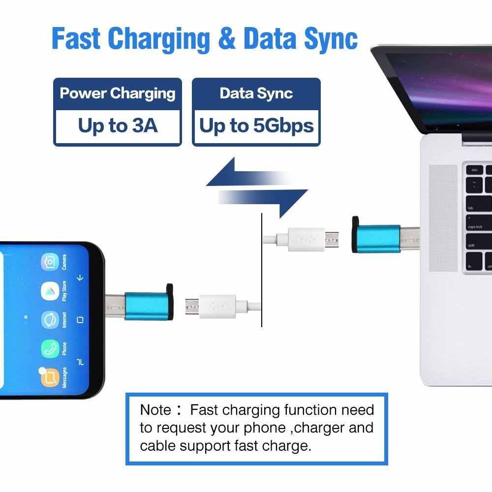 8Pack USB 3.1 Type C OTG Adapter Micro USB naar Type C Adaptador Usb Tipo C Voor Samsung S9 note 8 S8 + LG G5 G6 V20 Huawei Type-c