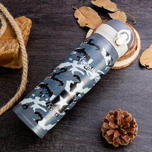 500ML Camouflage Thermos Vacuum Stainless Steel Flask Water Bottle Top quality four design Army Green Termos