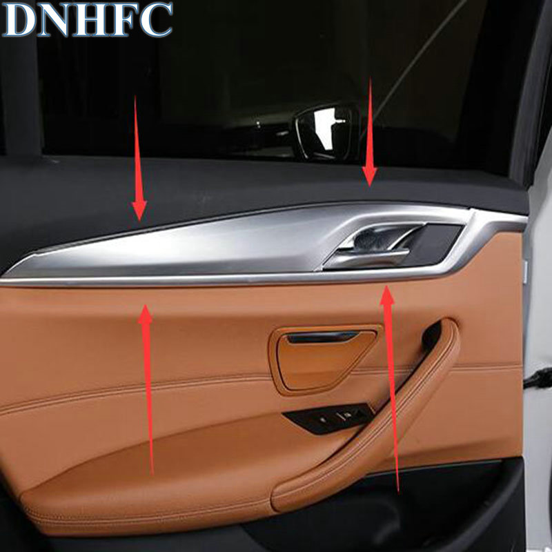 DNHFC Car door interior handle decoration panel sticker for BMW 5 series 520 525 530 540 G30 G31 2017 2018 LHD dnhfc interior door handle switch decorates sequins lhd for mazda cx 5 cx5 kf 2nd generation 2017 2018 car styling