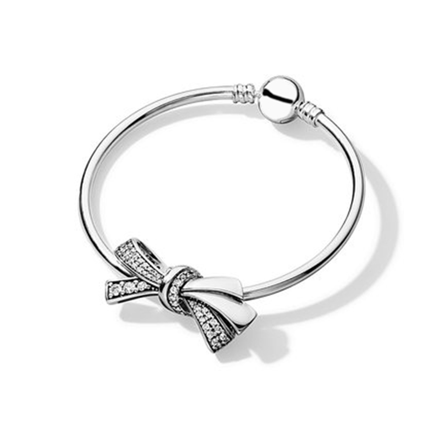 ZTUNG PDS3B 100% 925 Sterling Silver New Authentic Temperament Butterfly Charm Beaded Bracelet Bangle Set