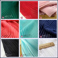 Pleated Fabric silk Pleated chiffon dress solid color cloth