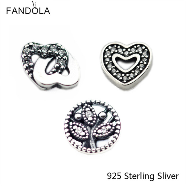 DIY Beads Fits Pandora Pendant Box 925 Sterling Silver Jewelry Accessories Petite Elements Interlocked Hearts And Family Tree