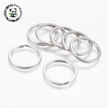 iron split key rings, Metal color, size: about 30mm in diameter, hole: 24mm