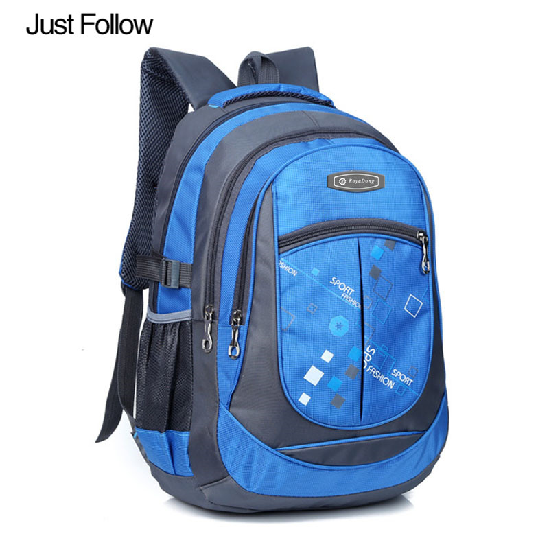 Just Follow 2017 New Children Students Backpacks School Bags for Teenagers Boys Girls Kids Nylon Backpack Child Book Bag pink school bags hot girl s princess backpacks for teenagers children kids nylon 3d student backpacks 33 28 10 cm aw84