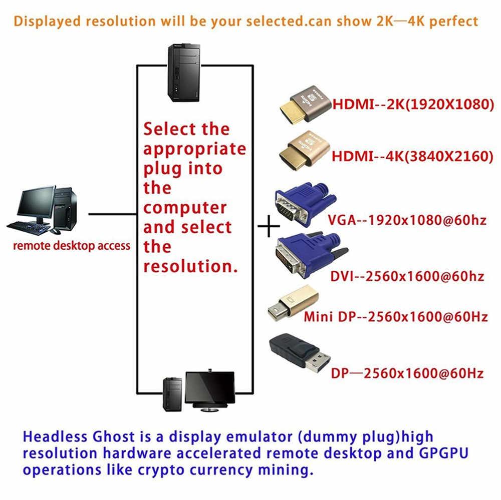 HDMI DDC EDID פטמה תקע, בלי ראש פנטום, תצוגת אמולטור (Fit Headless-1920x10Computer/HDTV/מחשב נייד ב אודיו וידאו כבל