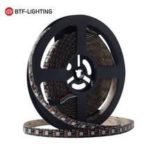 SK6812 RGB WS2812 12 V 5 m 60 leds/m Akıllı Led Piksel WS2812B Şerit Siyah PCB SK6812 IC ayrı ayrı Adreslenebilir Led Işıkları 30 W/m