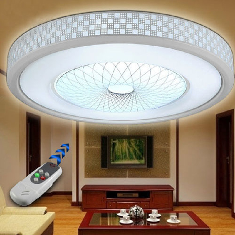 Modern LED Round Acrylic Lighting Chandelier Ceiling Lamp Light Flush Mount