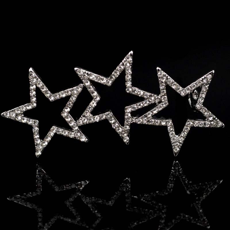 NEW Wedding Bridal Hair Accessories Hairpins Star Flower Crystal Rhinestone Diamante Hair Clips Bridesmaid Hair Jewelry FJ-003